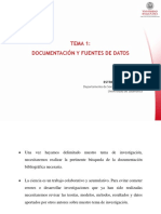 Tema 1 - Documentación y fuentes de datos
