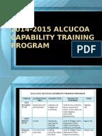 2014-2015 ALCUCOA Capability Training