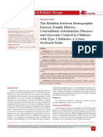 The Relation between Demographic Factors, Family History, Concomitant Autoimmune Diseases and Glycemic Control in Children with Type 1 Diabetes, A Cross-Sectional Study