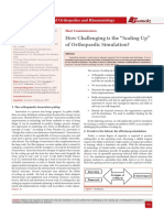 """How Challenging is the """"Scaling Up"""" of Orthopaedic Simulation?"""