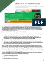 Aplikasi Pengajuan Angka Kredit PAK Guru DUPAK I Dan DUPAK II