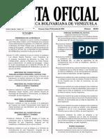 Gaceta Oficial Número 40.929 de la República de Venezuela, 20 de junio de 2016