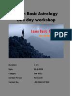 Learn Basic Astrology- One day workshop