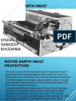 Ref ROTOR EARTH FAULT