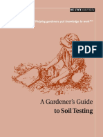 A Gardeners Guide to Soil Testing