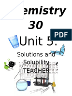 Solutions and Solubility Teacher Blog