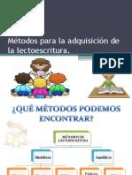 Métodos Para La Adquisición de La Lectoescritura Autora Paulina Olate