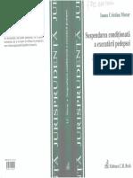 Suspendarea condiţionată a executării pedepsei.Culegere de practică judiciară - I.C.Morar - 2007.pdf