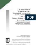 Hakansson Carlos, Los Principios de Interpretación y Precedentes Vinculantes Del Tc Peruano Una Aproximación