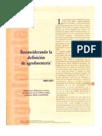 Reconsiderando La Definicion de Agroforesteria