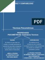 Tecnicas Psicometricas 2015 Confiabilidad y Validez