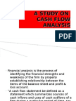 a study on cash flow anaylsis Ppt