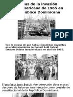 Causas de La Invasión Norteamericana de 1965 En