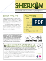 The Gherkin Newsletter, issue 1 ~  London Food Link