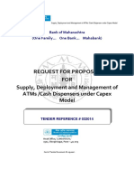 RFP for Supply Deployment and Management of ATMs Cash Dispensers Under Capex Model