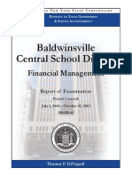 Baldwinsville financial managment audit