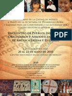 Programa Encuentro de Pueblos Indígenas, Originarios y Afrodescendientes de América Latina y El Caribe