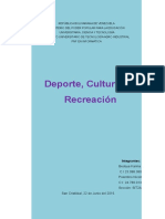 Deporte, Cultura, y Recreacion II