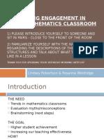 Engagement Math Training