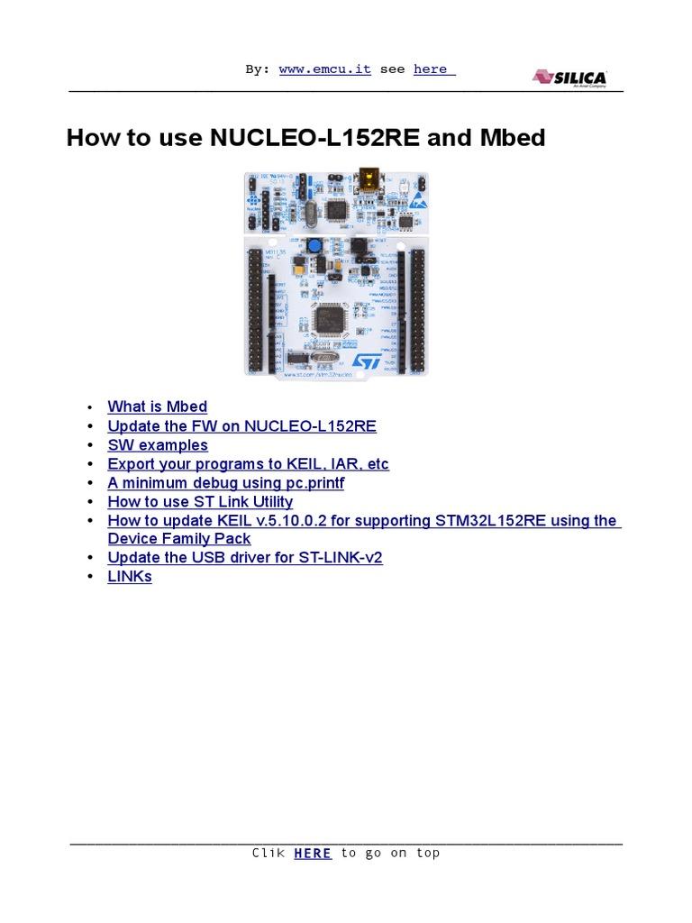 Howtouse Nucleo l152re v2   Windows 7   Microsoft Windows