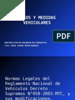 Pesos y Medidas Vehiculares 2012
