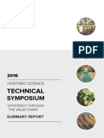 HORTGRO Science symposium 2016 Summary Report