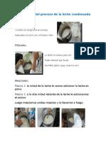 Descripción del proceso de la leche condensada.docx