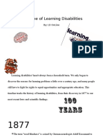 timeline of learning disabilities