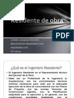 Funciones Residente de Obra - Lenguaje y Redacción Técnica