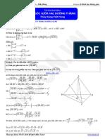 Bài 01 Góc và khoảng cách giữa hai đường thẳng, mặt phẳng