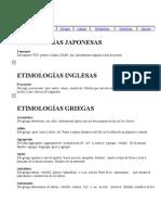 Etimologias Latinas
