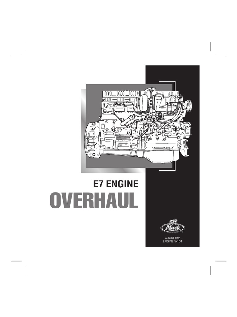215894303 mack e7 pln service manual 5 101 pdf manual transmission rh es scribd com 427 E Engine Model Mack Mack E7 460 Engine Specs