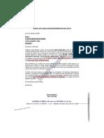 Carta notarial venta de acciones