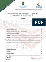 Analiza Sistemelor Interne de Asigurare a Calitatii Din Perspectiva Performantei Si a Adecvarii