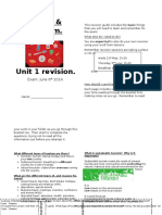 Unit 1 Revision Pack Travel and Tourism
