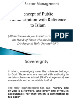 Concept of Public Administration With Referenc to Islam