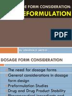 IV. Pre Formulation