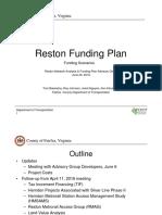 Reston Funding Plan June 2016
