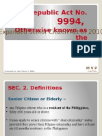 Republic Act No. 9994