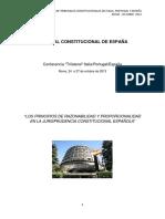 Roca Trias, Encarnación, Ponencia Razonabilidady Porporcionalidad en La Jurisprudencia Constitucional Española, 2013, España