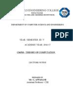 Cs6503 Theory of Computation Index Page