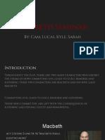 macbeth seminar