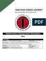 Elective Session UBD NHO 2016 Math Engagement Strategies