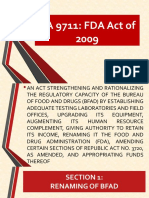 Ra 9711-FDA Act of 2009