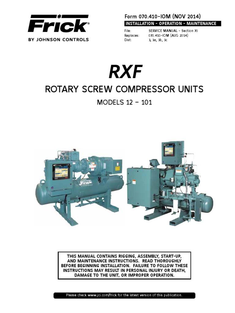 compressor manual gas compressor valve rh scribd com Frick Compressor Manuals RWB frick screw compressor parts