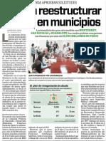22-06-16 Avalan reestructurar deuda en municipios