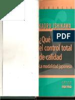 Que Es El Control Total de La Calidad - Kauro Ishikawa