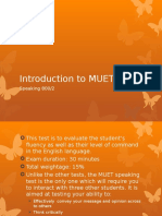 Introduction to MUET Speaking