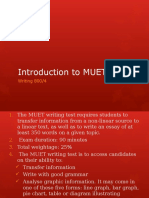Introduction to MUET Writing 1