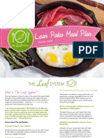 Lean Paleo Meal Plan Winter 2016